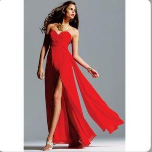 Strapless Faviana Red Dress